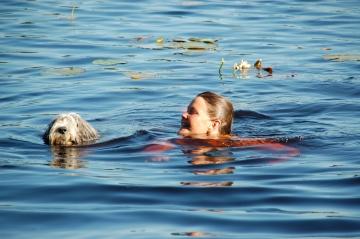 Sally simmar med matte