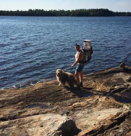 Sommaren 2018, Sally 11 år vandrar med Anna och Marlon